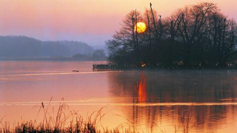 Sonnenuntergang am Tollensesee, Mecklenburgische Seenplatte